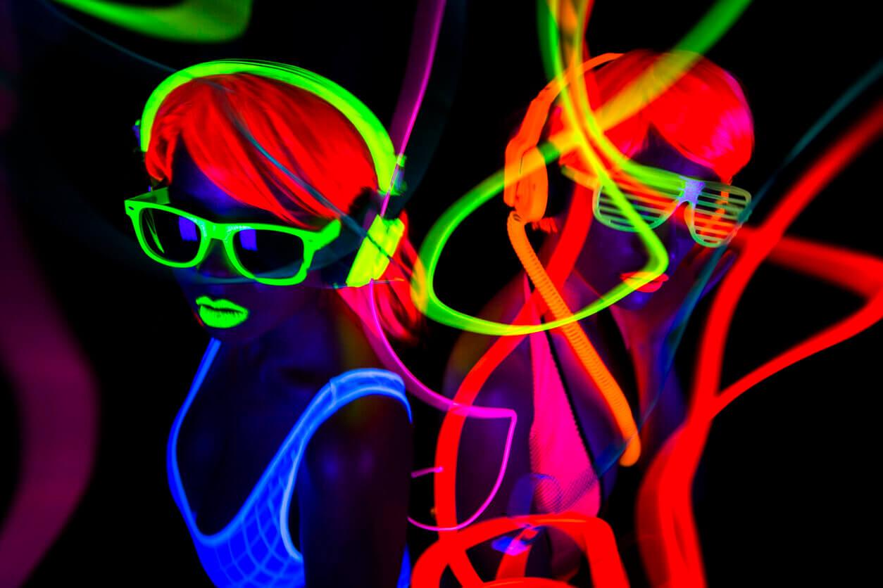 Neon UV Party Idea