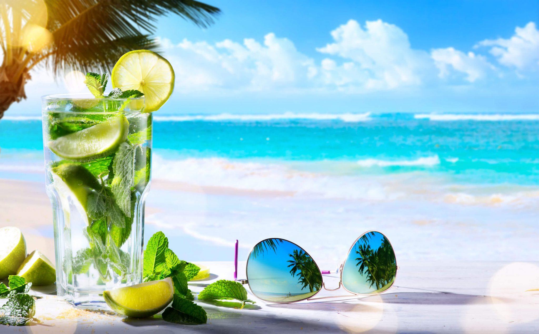 tropical beach party theme