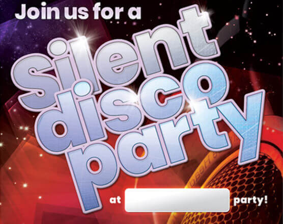 Silent Disco Invitations
